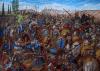Batalla de Queronea 338 AC, Alejandro atacando al Batallón Sagrado tebano. Autor A.V. Kurkin