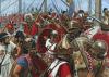 Abordaje romano de un barco cartaginés. Autor Seán Ó'Brógáin