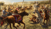 Batalla de Gránico 334 AC (5). Derrota de la caballería mercenaria griega comandada por Memnón, un mercenario griego al servicio persa. Autor Radu Oltean