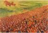 Batalla de Gránico 338 AC(6). Destrucción de los hoplitas mercenarios griegos a la derecha, al ser envueltos por retaguardia por la caballería macedónica. Autor Richard Hook para Osprey.