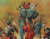Batalla de los llanos de Bagradas o de Túnez (Tunis) 255 AC. Carga de los elefantes