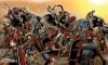 Batalla de Panormos (Palermo) 251 AC. Se enfrentaron Lucio Cecelio Metelo con unos 21.000 efectivos contra Asdrúbal con unos 60.000 efectivos, siendo los cartagineses derrotados, sufriendo 11.000 bajas frente 2.500 romanas. Autor Ángel García Pinto