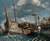 Batalla naval de Milae o Milas 260 AC. Los romanos emplearon por primera vez el corvus y consiguen derrotar a los cartagineses