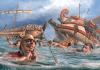 Batalla naval del cabo Ecnomo 256 AC. Secuelas de la batalla. Autor Radu Oltean