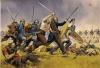 Infantería celta o gala atacando a los romanos. Autor Angus McBride