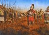 Jantipo adiestrando al ejército cartaginés al modo macedonio. Autor Steve Noon