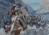 Aníbal cruzando los Alpes. Autor Mariusz Kozik