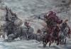 Aníbal cruzando los Alpes. Autor Giuseppe Rava