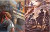 Asalto final de Cartago. La mujer de Asdrúbal y sus hijos antes de arrojarse al fuego desde el templo de Eshmún (Esculapio)