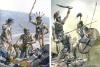 Batalla de Baecula 208 AC. A la izquierda auxiliares samnitas en el ejército romano, a la derecha hispanos del ejército cartaginés. Autor Pablo Outeiral