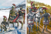 Batalla de Baécula 208 AC. A la izquierda Asdrubal, a la derecha Escipión. Autor Pablo Outeiral