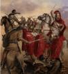 Batalla de Cástulo 211 AC. Muerte de Publio Cornelio Escipión, padre del mítico Escipión el Africano, al ser alcanzado por una jabalina.