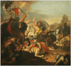 Batalla de Vercelae. Autor Giovanni Batista Tiepolo. La caballería romana derrota a la caballería cimbria