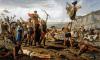 Batalla de Vercelas o Vercelae 101 AC Triunfo de Mario sobre los Cimbrios. Autor Francesco Saverio Altamura