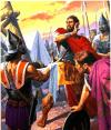 Cabeza de Asdrúbal presentada a Aníbal