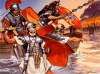 Desembarco romano en Britania año 43. Autor Angus McBride