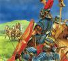 Ejercito romano delante del castro britano de Caer Caradoc.