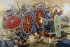 Batalla de Adrianópolis 378, ultimos defensores. Autor Howard Herrard