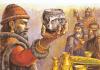Batalla de Pliska: el khan búlgaro Krum brinda con la calavera de Niceforo I