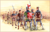 Batalla de Aljubarrota 1.385 ejército portugués: El rey Juan I, el condestable Nuño Álvares Pereira, portaestandarte, hombre de armas e infantes varios. Autor Carlos Marques http://carlosm_arte.blogs.sapo.pt