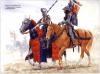 Batalla de Baugé 1.421. El comandante inglés sir Thomas duque de Clearence y su portaestandarte. Autor Graham Turner para Osprey