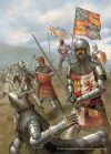 Batalla de Najera 1.367. El principe Negro durante la batalla. Autor Jason Juta