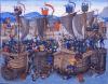 Batalla de Sluys 1340. Miniatura de lasCrónicas deJean Froissart