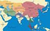 División del Imperio Mongol hacia el año 1.300