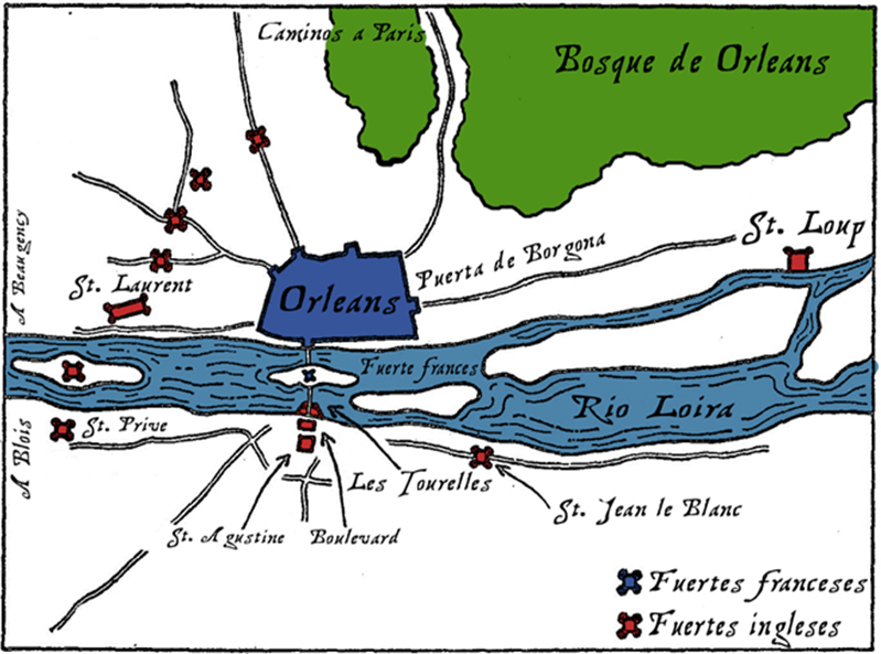 Sitio de Orleans en abril de 1.429