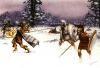 Peltastas tracios atacados por los ekdromoi o corredor de una falange, éstos eran los más jóvenes de las filas hoplitas, salian corriendo de la falange y sorprendían a los psiloi y peltastas. Autor Angus McBride Para Osprey