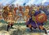 Rebelión de Cerdeña 215 BC.- El centurión Ennius (lizquierda) lucha con Hosto, hijo de Hampsicora . Autor Giuseppe Rava