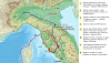 Fiesole o Faesulae 225 AC, movimoentos previos a la batalla