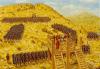 Asedio de Andetrium año 9 durante la revuelta de Iliria. Augusto contempla el asalto que se llevó a cabo por varios puntos a la vez. Autor Adam Hook