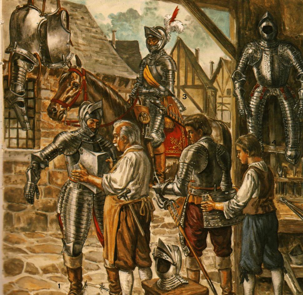 Coraceros o caballos coraza siglo XVII