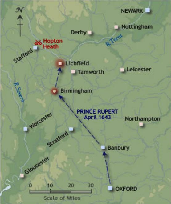 Operaciones en el centro de Inglaterra 1643 - Arre caballo!
